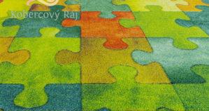 Dětský koberec Puzzle multicolor